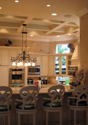 Transitional Kitchen Design, Ceiling Design, Country Club Residence